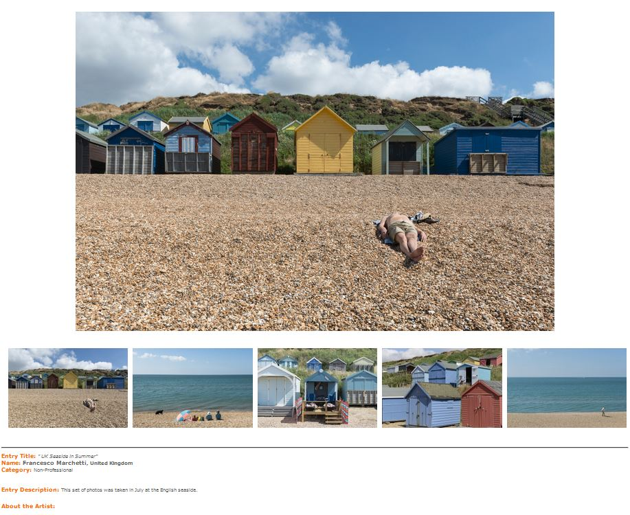 IPA2015, Francesco Marchetti, UK Seaside in Summer